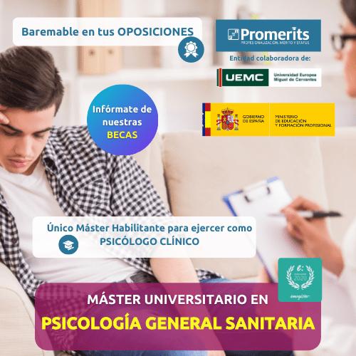 Máster Universitario Psicología General Sanitaria