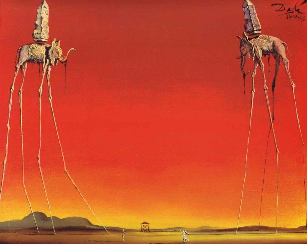"""""""Los Elefantes"""" de Dalí"""