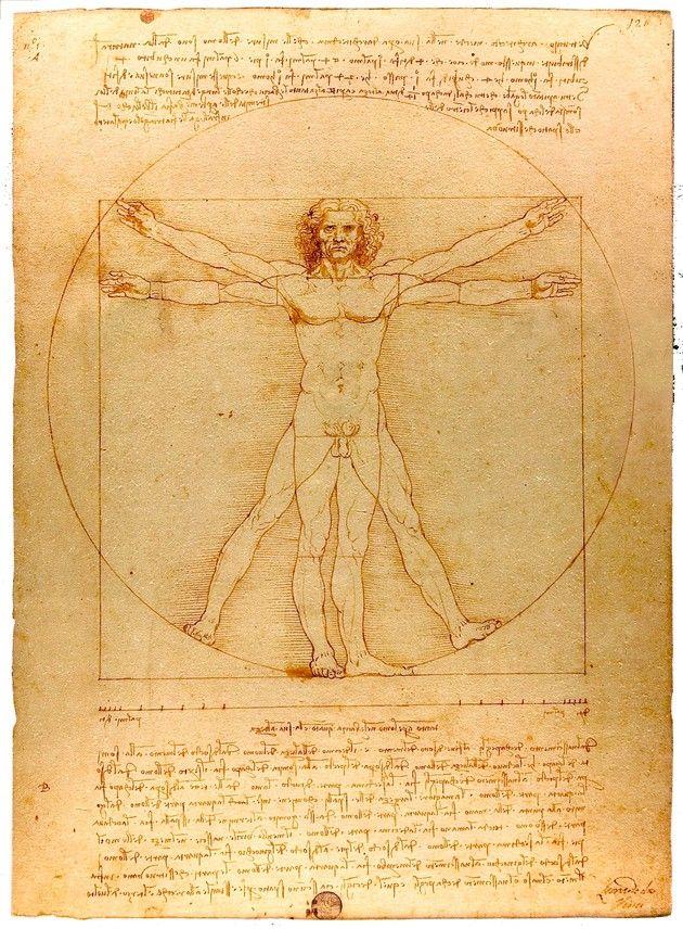 """""""Hombre de Vitruvio"""" de Leonardo da Vinci"""