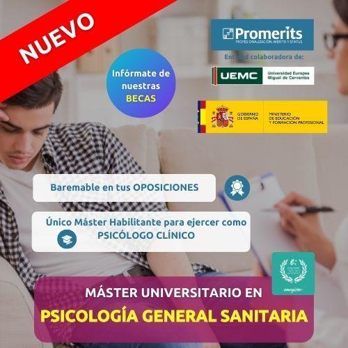 Máster Oficial Psicología General Sanitaria